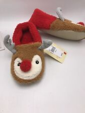 $30 Christmas  Slippers size 9/10 large  reindeer C10
