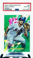 2020 Topps Inception GREEN PETE ALONSO 2nd Year CARD PSA 10 GEM MINT/ POP 2