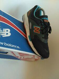 New Balance 1600 Mens Trainers Size 9 black  grey run  gym walk originals