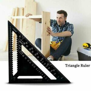 """7""""/12"""" Aluminum Alloy Speed Square Quick Roofing Rafter Triangle NEW Ruler R9R0"""