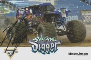 """2017 Ryan Anderson signed """"Son-Uva Digger"""" Monster Jam Monster Truck Hero Card"""