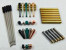 Woodturning Fancy Slimline Mixed Pen Kit Sets x 5 - Set No: 2