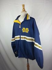 Michigan Wolverines Starter Full Zip Pullover Poly Jacket Size XL