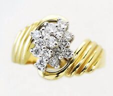 14KT GOLD LADIES AWESOME! WATERFALL DIAMOND RING (13405R)