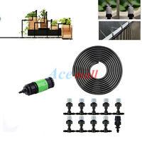 10m/33' Hose Home Garden Patio Misting Cooling System 10 Plastic Mist Nozzle kit