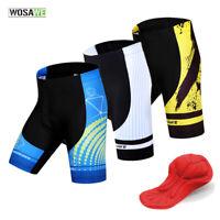 Mens Cycling Shorts Road Team Bike Sports Comfortable Short Pants Padded WOSAWE