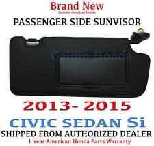 2013- 2015 Honda CIVIC SEDAN Si Genuine Factory OEM Passenger Sunvisor W/Mirror