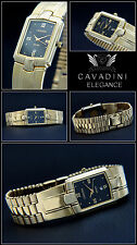 Attractive Design Unisex Cavadini Watch IP-Gold plated Perforated Dial