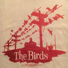 licensed THE BIRDS t shirt--HITCHCOCK HORROR film--RETRO GRAPHICS--NEW nwot--(M)