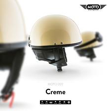 MOTO D22 CREME - CASCO DEMI JET-HELMET VESPA SCOOTER RETRO VINTAGE S M L XL XXL