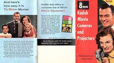 Eastman Kodak 8MM Movie Cameras & Projectors Various Models 1956 Brochure