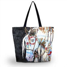 Cool Horse Shopping Tote Travel Shoulder Bag Case Handbag Folding Reusable Bag