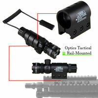 Remote Switch Tactical 532nm Green Laser Dot Scope Sight for Hunting Scope US