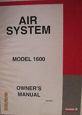 Case- Ih Air System Model 1600 Owner`s Manual Factory Original Oem 1995