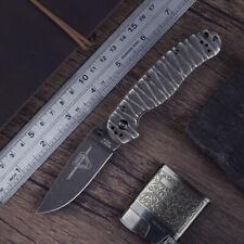 Ontario RAT 2 Steel Version Knife AUS8 Plain Edge Pocket Clip EDC Folding Knife