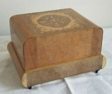 Vintage Lador Switzerland Wind Up Music/Jewelry Box w/Dancer Italy Needs Repair