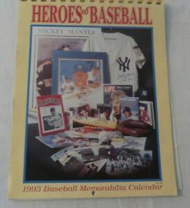 1993 Heroes of Baseball Memorabilia Calendar, Krause Publications
