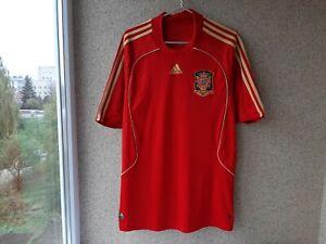 Spain Home football shirt 2008/2009 Jersey XL Adidas Spain Soccer Red Camiseta