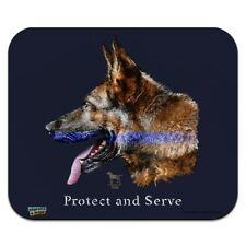 Protect Serve K9 Police Thin Blue Line Low Profile Thin Mouse Pad Mousepad