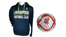 Liverpool F.C. Official Soccer Hoodie Jacket & Size 5 Ball 08-1 Large