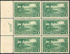 1925 US Stamp #617 A181 1c Mint Never Hinged Plate Block of 6 Catalog Value $75