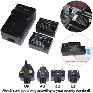 Battery Or charger Kits Panasonic DC-FZ82EB-K Lumix Digital Bridge Camera 18.1MP