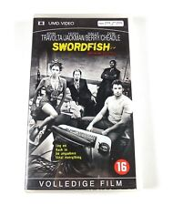 Swordfish Movie PSP UMD Playstation John Travolta Halle Barry Hugh Jackman PAL