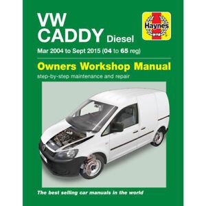 VW Caddy Van Haynes Manual March 2004- Sep 15 1.6 1.9 2.0 Workshop