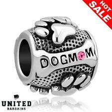 Charm Dog Puppy Metal Pet Bead Animal Charms Pandora Troll Chamilia Bracelet New