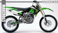KAWASAKI KX250F 2004 2005 MAXCROSS GRAPHICS KIT FULL DECALS MSP-STYLE-4