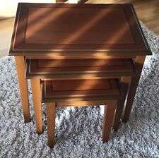 Nest Of Three Wooden Coffee Tables In Great Condition