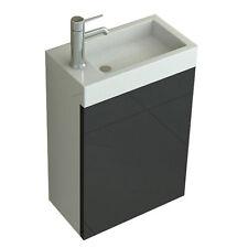 WC Waschbecken Badset Aarau schwarz Waschtisch Badmöbel Becken Bad Möbel Neu