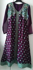 Stitched Anarkali Frock - Pakistani Suit Dress -  Churidar - Medium - Purple