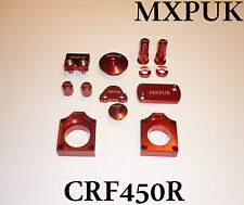 CRF450 2010 BLING KIT MXPUK RED ANODIZED  ALLOY PARTS PACK 2009 CR450F (627)