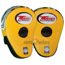 Twins Curved Focus Mitts - Black/Yellow PML-10