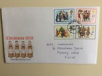 """Post Office First Day Cover Christmas 1978"""""""