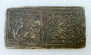 Antique Old Unique Traditional Design Hand Engraved Bronze Seal Die Mold Jewelry