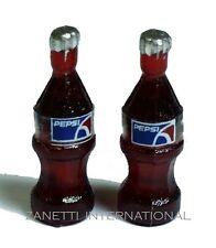 Set of 2 Dollhouse Miniature Pepsi Bottles * Doll Mini Food Drink Tiny Soda Cola