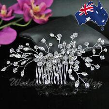 SALE Crystal & Rhinestone Delicate Bridal Hair Comb Diamante Wedding Formal HC-5