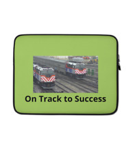 Chicago Metra Train Engine On Track to Success 15-Inch Laptop Sleeve