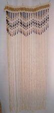 Wooden Curtain door window doorway divider handmade from beads in Western Ukrain