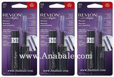 (Lot of 3) Revlon CustomEyes Mascara, Black 002
