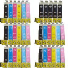 12 XL Cartucce di inchiostro PER EPSON P50 R265 / R285 / R360 STAMPANTI 801-806 non OEM