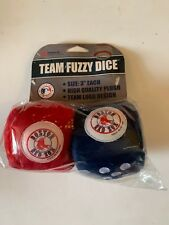"MLB Boston Red Sox High Quality PLUSH 3"" Fuzzy Dice Team Logo Car Auto Truck"