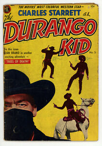 JERRY WEIST ESTATE: DURANGO KID #5 (FRAZETTA) & TIM HOLT #40 (VG-) (ME 1950-54)