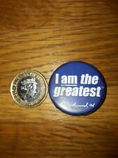 *REDUCED*  VINTAGE 1980s MUHAMMAD ALI  BOXING PIN PINBACK BADGE BUTTON