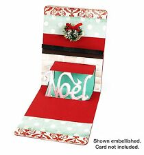 Sizzix Phrase Noel 3D Pop Up #658046 Movers Retail 19.99 Retired, BEAUTIFUL FUN!
