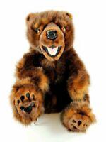 "Disney Parks California Adventure Grizzly Bear Plush Pre Duffy Hidden Mickey 17"""
