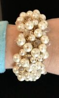J.Crew PEARL AND CRYSTAL BRACELET! Nwt New$98 With J.Crew Bag!