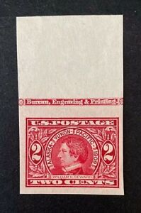US Stamps, Scott #371 2c Seward 1909 imperforate with selvage XF/Superb M/NH